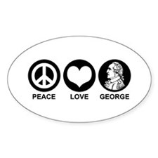 Peace Love George Decal