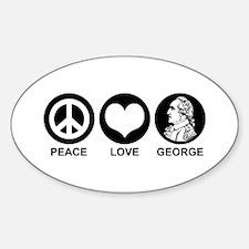 Peace Love George Decal