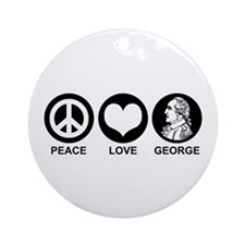Peace Love George Ornament (Round)