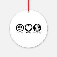 Peace Love George Ornament (Round)