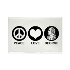Peace Love George Rectangle Magnet