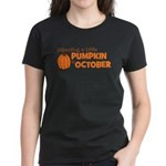 Expecting Pumpkin October Women's Dark T-Shirt