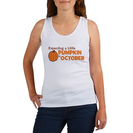 Expecting Pumpkin October Women's Tank Top