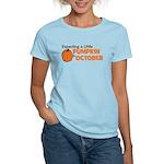 Expecting Pumpkin October Women's Light T-Shirt