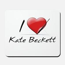 I Heart Kate Beckett Mousepad