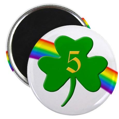 """5th Shamrock 2.25"""" Magnet (100 pack)"""