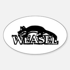 Weasel Sticker (Oval)