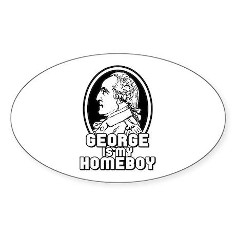 George Washington Sticker (Oval)
