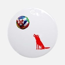 Howling At The Ball! Ornament (Round)