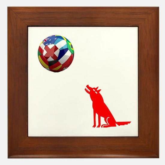 Howling At The Ball! Framed Tile