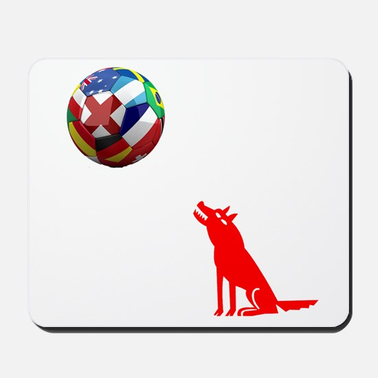 Howling At The Ball! Mousepad
