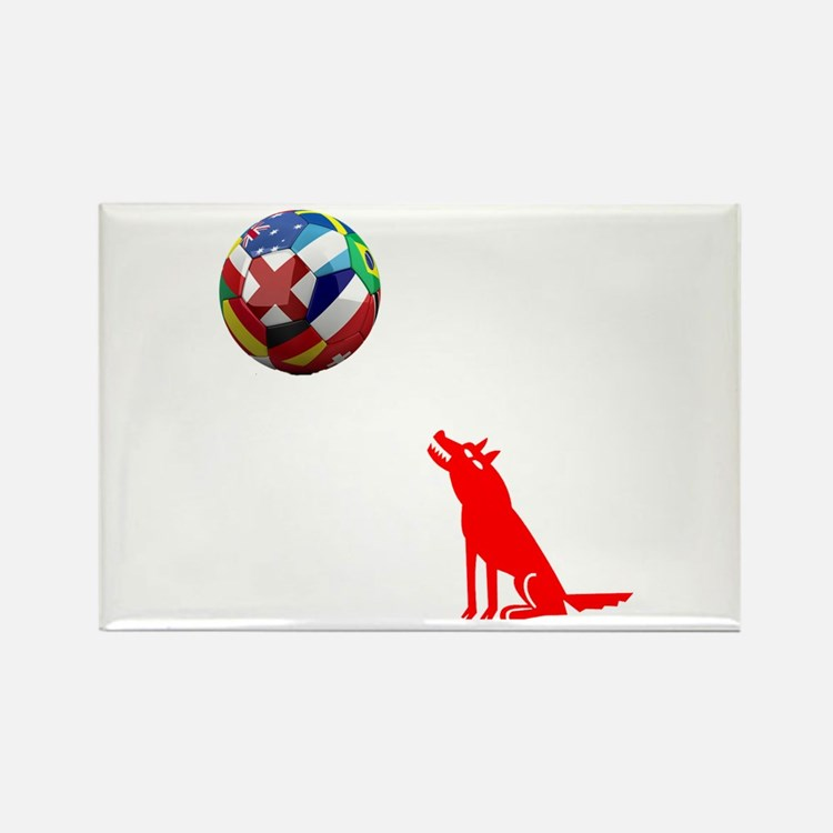 Howling At The Ball! Rectangle Magnet