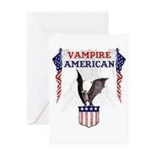 Vampire American Greeting Card