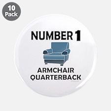 "ARMCHAIR QUARTERBACK 3.5"" Button (10 pack)"