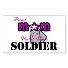 Proud Soldier's Mom Decal