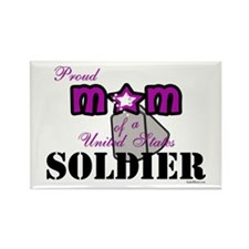 Proud Soldier's Mom Rectangle Magnet