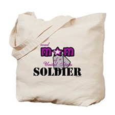 Proud Soldier's Mom Tote Bag