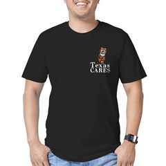 TX_CARES black front T-Shirt