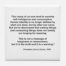 Jimmy Carter Tile Coaster