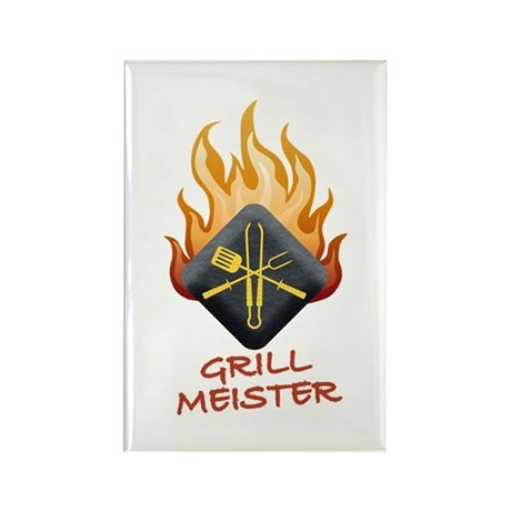 Grill Master Rectangle Magnet (10 pack)