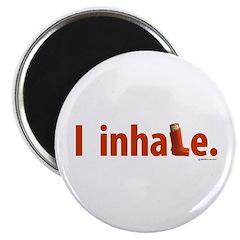"""I Inhale 2.25"""" Magnet (100 pack)"""