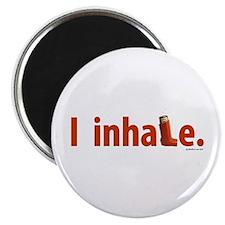 """I Inhale 2.25"""" Magnet (10 pack)"""