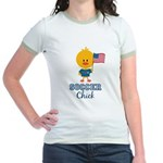 USA Soccer Chick Jr. Ringer T-Shirt