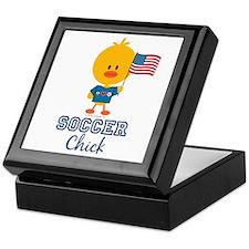 USA Soccer Chick Keepsake Box