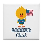 USA Soccer Chick Tile Coaster