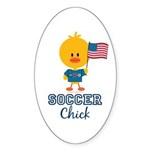 USA Soccer Chick Sticker (Oval 50 pk)