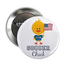 "USA Soccer Chick 2.25"" Button"