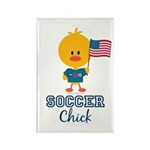 USA Soccer Chick Rectangle Magnet (10 pack)