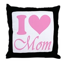 I Heart Mom: Throw Pillow