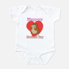 Happy Mothers Day 3D Hamster Infant Bodysuit