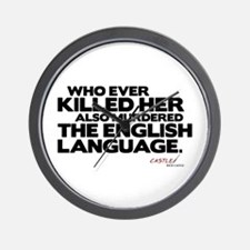 Murdered the English Language Wall Clock