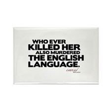 Murdered the English Language Rectangle Magnet (10