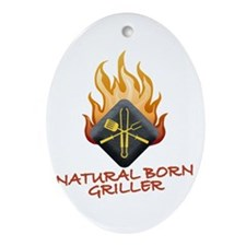 Grill Master Ornament (Oval)