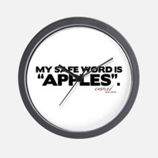 My Safe Word is Apples Wall Clock