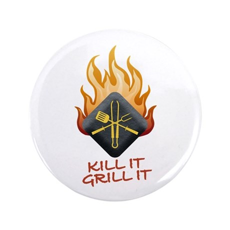 "Grill Master 3.5"" Button (100 pack)"