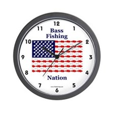Bass Fishing Nation Wall Clock