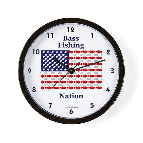 Bass Fishing Nation Wall Clock