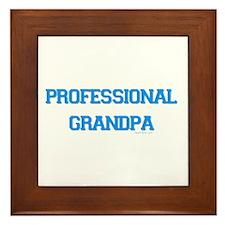 Professional Grandpa Framed Tile