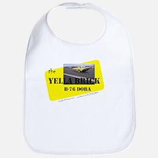 the YELLA BRICK in action Bib