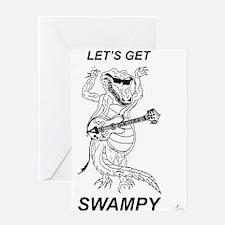 Rockadile - Let's Get Swampy Greeting Card