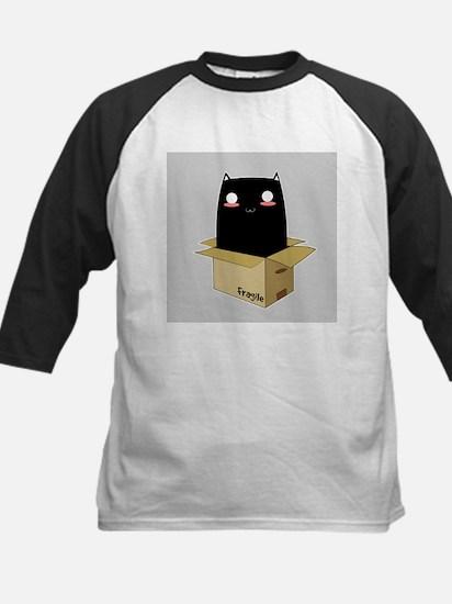 Black Cat in a Box Baseball Jersey