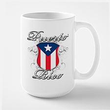 Puerto rican pride Large Mug