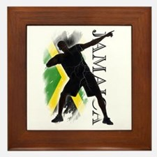 Jamaica - as fast as lightning! - Framed Tile