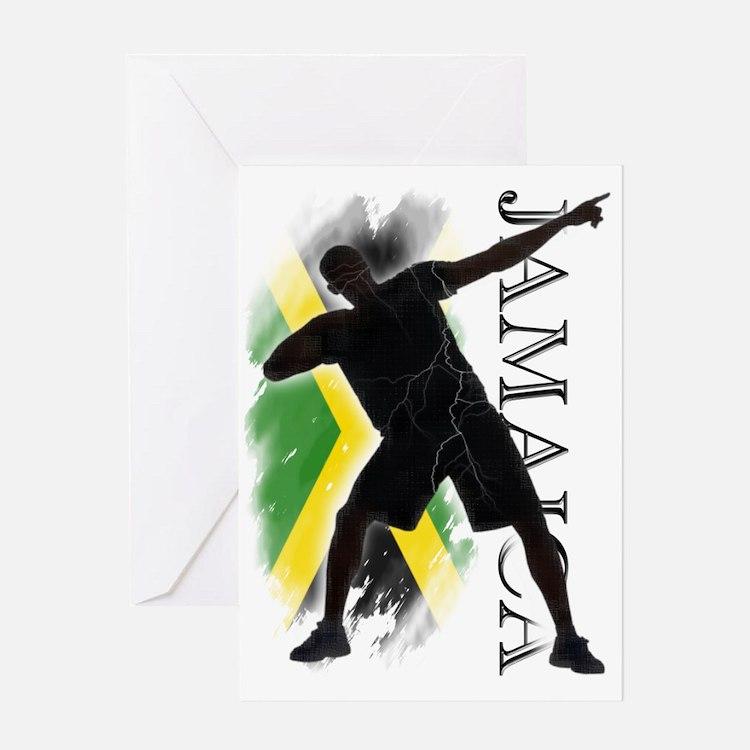Jamaica - as fast as lightning! - Greeting Card