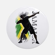 Jamaica - as fast as lightning! - Ornament (Round)