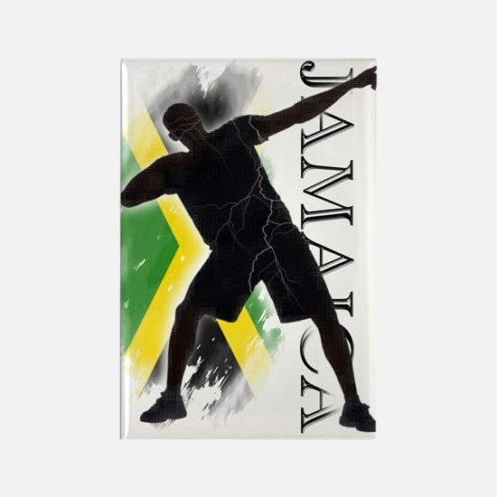 Jamaica - as fast as lightning! - Rectangle Magnet